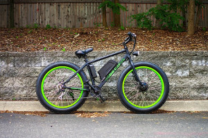 fat tire electric bike feat